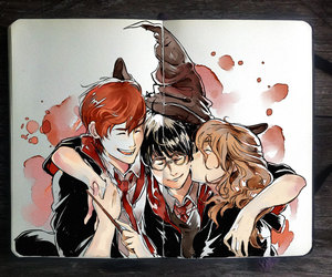 harry potter, ron weasley, and art image