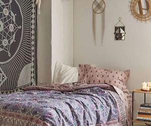 bedroom, room, and boho image