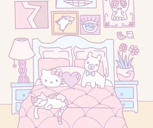 kawaii, hello kitty, and pink image