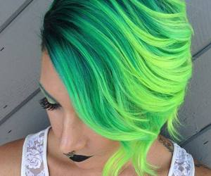 colored hair and cabelos coloridos image