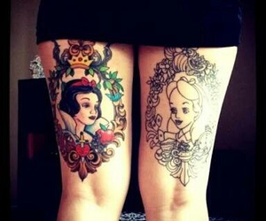 tattoo, disney, and snow white image