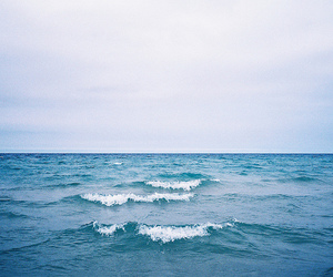 sea, blue, and ocean image