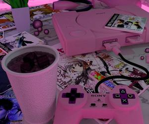 pink, anime, and game image