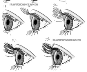 eyes, realistic, and how to draw image