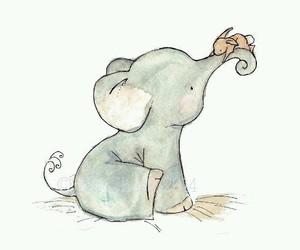 cute, elephant, and art image