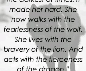 wolf, dragon, and quotes image