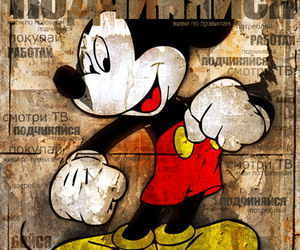 disney, mickey, and type image