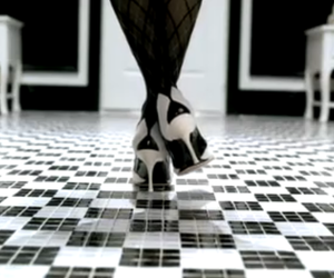 black and white, shoes, and add a tag image