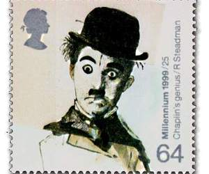 chaplin, type, and stamp image