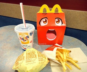 McDonalds, happy meal, and burger image