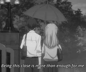 anime, monochrome, and Relationship image
