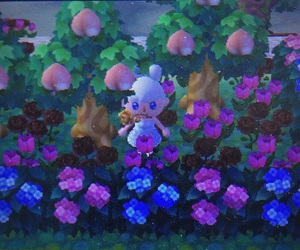 animal crossing, flowered, and flowery image