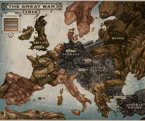 Great War, map, and type image