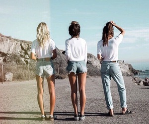 summer, friends, and style image