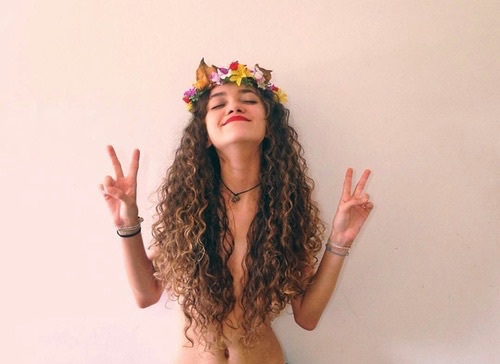 beautiful, flower crown, and girl image