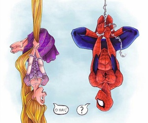 disney, spider man, and raiponse image