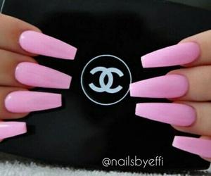beautiful pink nails image