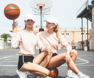 Basketball, friendship, and pink image