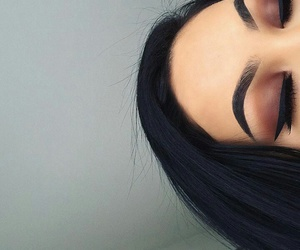 beauty, goals, and eyebrows image
