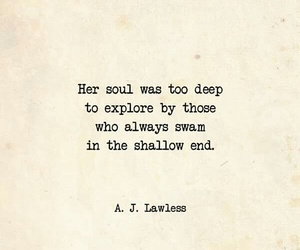 deep, quote, and soul image