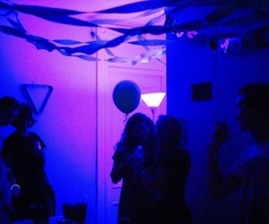 party, purple, and glow image