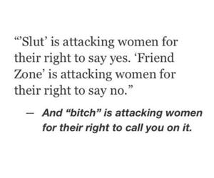 bitch, slut, and women's rights image