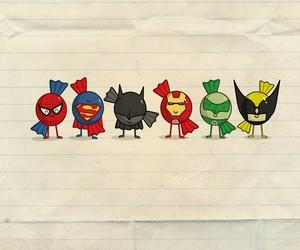 batman, candy, and superman image