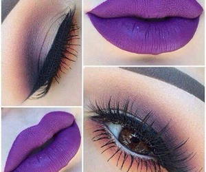 art, eyebrows, and violet lips image