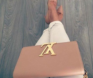 bag, heels, and Louis Vuitton image