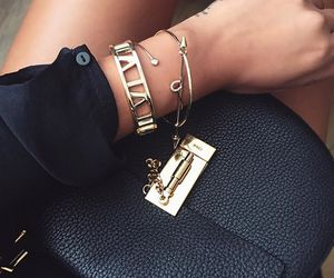 fashion, bag, and bracelet image