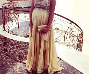 dress, pregnant, and robe image