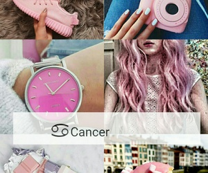 cancer, pink, and zodiac image