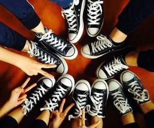 all stars, black, and chuck taylor image