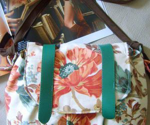 bags, fashion, and flower image