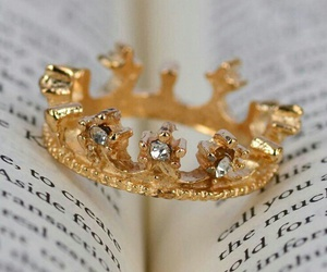 book, ring, and gold image