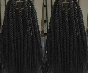 braids, marley, and hair image