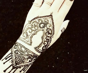 black, design, and henna image