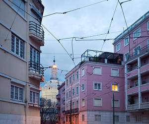 pink, grunge, and city image