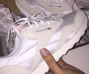 beige, reebok, and shoes image