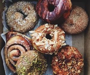 donuts, food, and vegan image