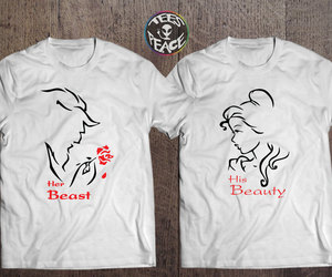 beauty and the beast, etsy, and matching shirts image