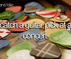 guitar pick, bucket list, and before i die image