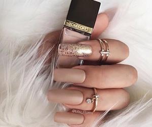nails, girl, and rings image