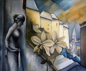 art, artistic, and flower image