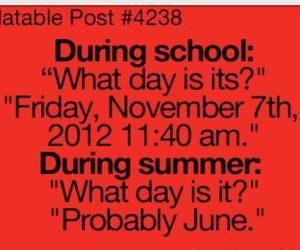 school, summer, and funny image