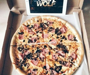 pizza, teen wolf, and food image