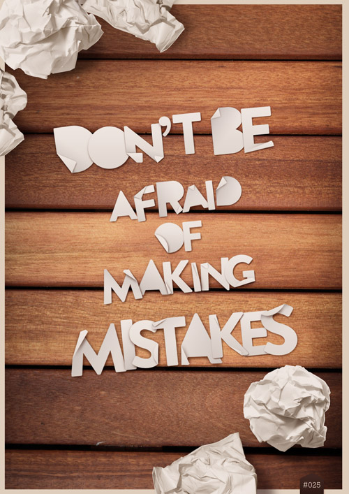 afraid, be, and mistakes image