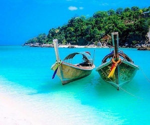 blue, thailand, and love image