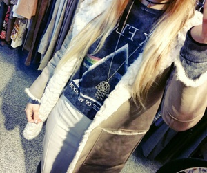 blonde, vintage, and clothing image