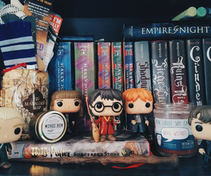books, harry potter, and funko pop image